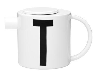 Foto Teiera Arne Jacobsen / Lettera T - Design Letters - Bianco - Ceramica