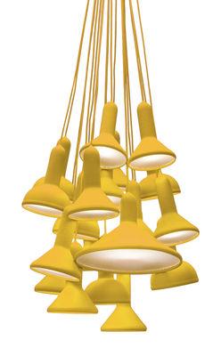 Suspension Torch Light 20 abat jours Established Sons jaune en matière plastique