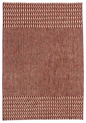 Tapis Blur Laine afghane 170 x 240 cm Nanimarquina rouge,beige en rotin fibres