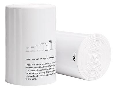 Poubelle Vipp sac plastique / lot de 25 - pour poubelle vipp 15 blanc - vipp