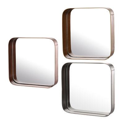 Miroir Edge Carrés Set de 3 Pols Potten or,argent,laiton en métal