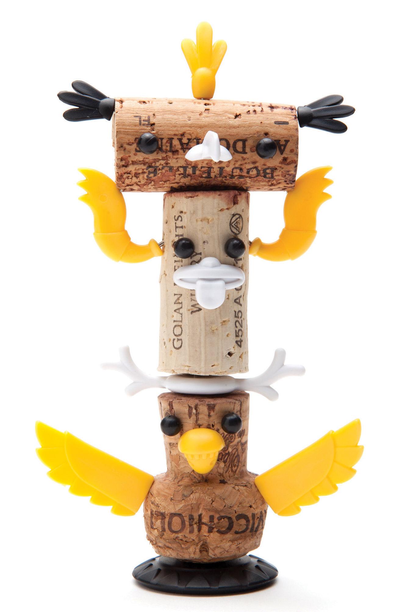 D coration corkers totem pour bouchons de li ge multicolore pa design made in design - Deco table multicolore ...