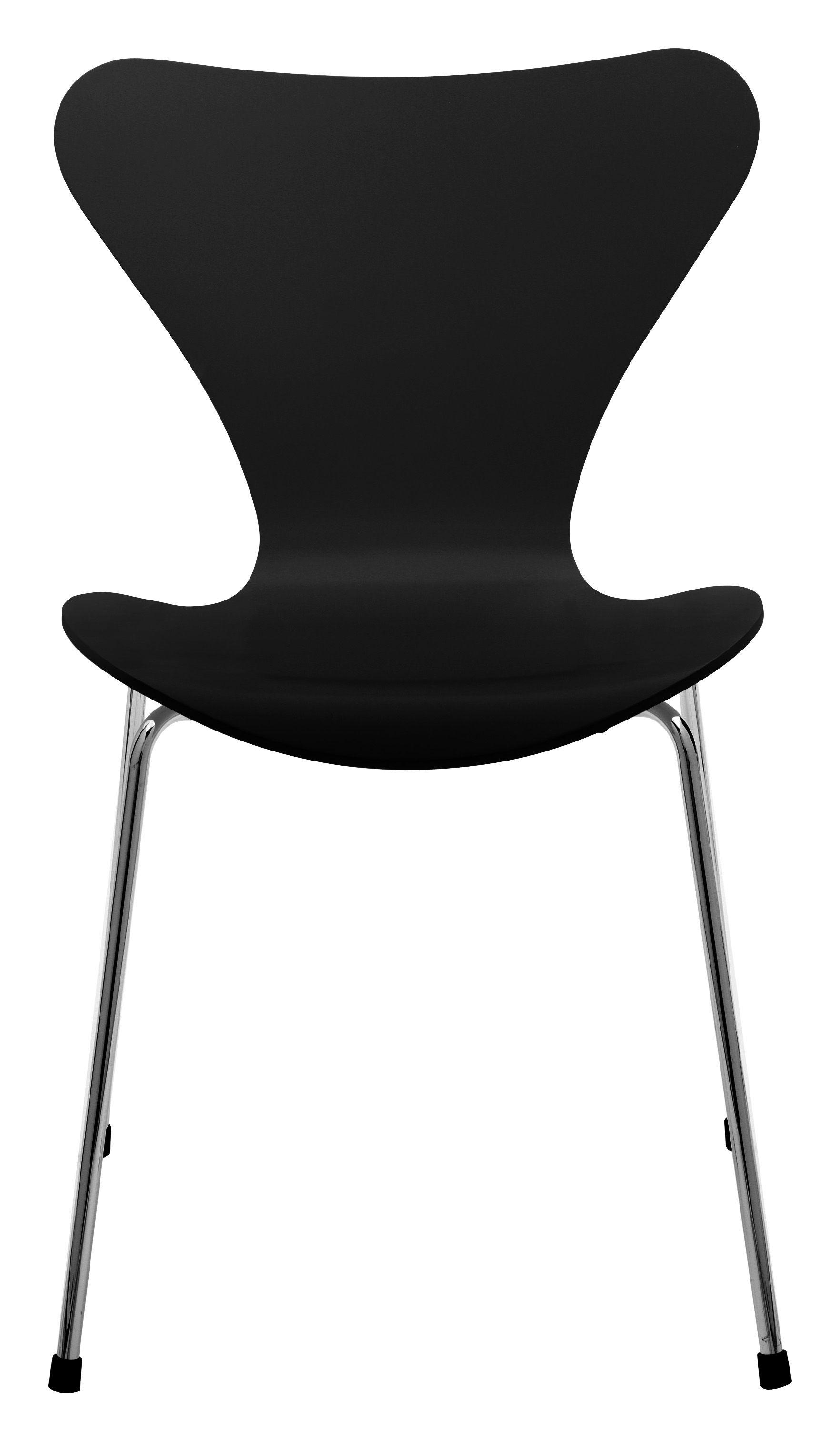 chaise empilable s rie 7 version h tre noir fritz hansen made in design. Black Bedroom Furniture Sets. Home Design Ideas