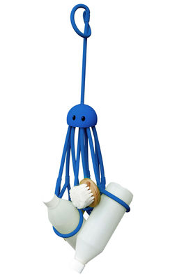Decoration - For bathroom - Octopus Object organiser - Shower octopus by Pa Design - Blue - Rubber