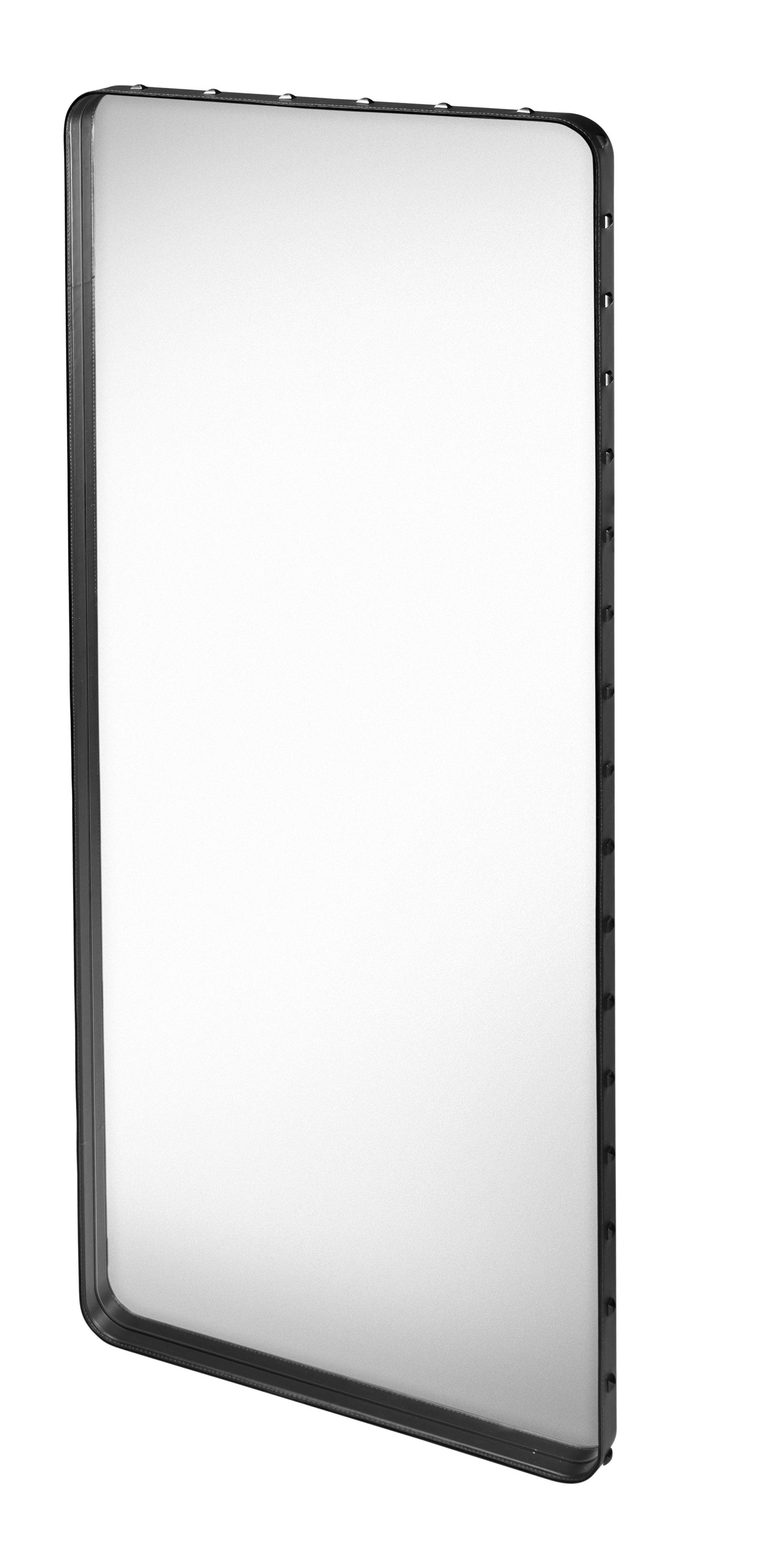 Miroir mural adnet 115 x 70 cm r dition 50 39 cuir noir for Miroir 50 70