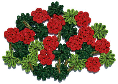 Arts de la table - Nappes, serviettes et sets - Set de table Florigraphie Geranium / 50 x 35 cm - Seletti - Rouge & vert - Paille