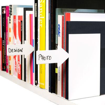 serre livres ici lot de 2 blanc pa design. Black Bedroom Furniture Sets. Home Design Ideas