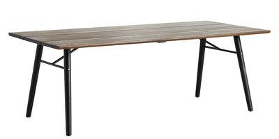 Split Tisch / 205 x 95 cm - Woud - Schwarz,Geräucherte Eiche