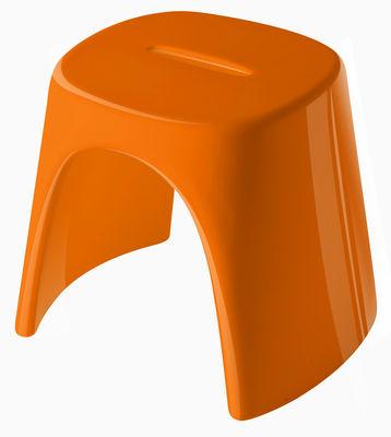 Foto Sgabello impilabile Amélie - versione laccata di Slide - Laccato arancio - Materiale plastico