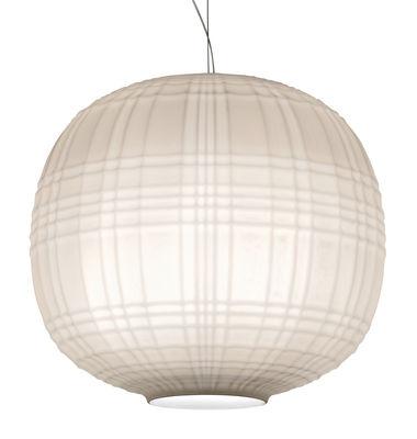 Tartan LED Pendelleuchte / Ø 35 cm - Foscarini - Weiß