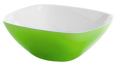 Tableware - Bowls - Vintage Salad bowl by Guzzini - White - Green - SAN plastic