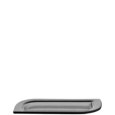 Coupe Smoked Lucca / Assiette - 13x25 cm - Leonardo gris en verre