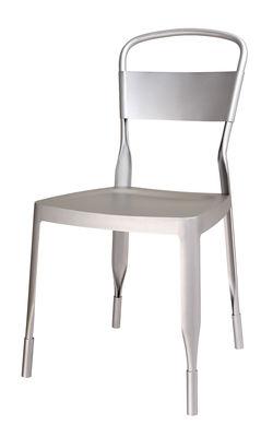 Mobilier - Chaises, fauteuils de salle à manger - Chaise 4a /Aluminium recyclé - EOQ - Aluminium - Aluminium anodisé