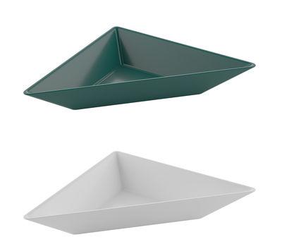 Coupelle Tangram / Set de 2 - 29 x 15 cm - Koziol vert sapin,blanc coton en matière plastique