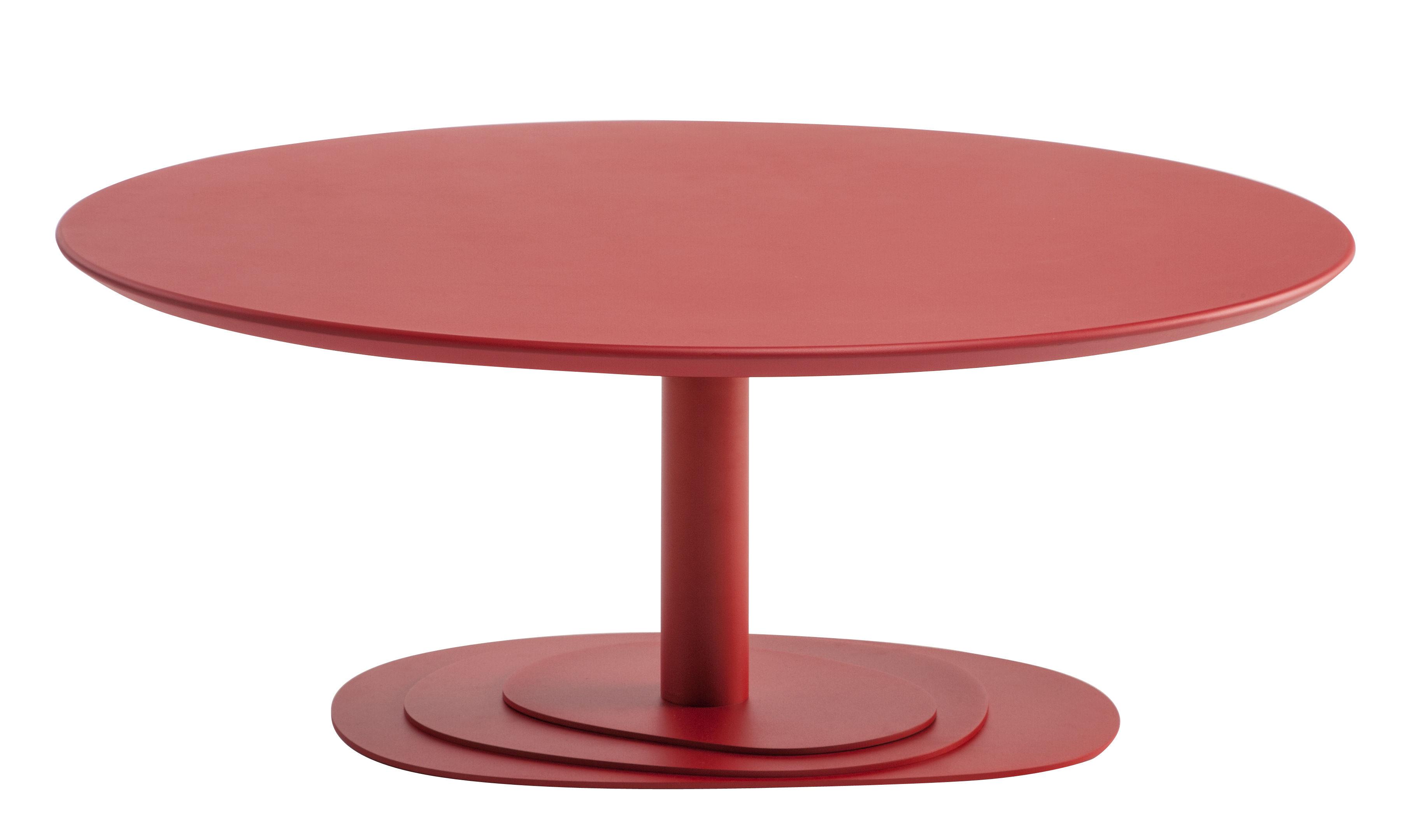 Table basse trio 100 cm plateau bois rouge ondarreta for Table basse design 100 x 100