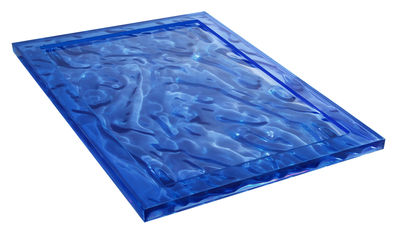 Plateau Dune / 55 x 38 cm - Kartell bleu en matière plastique