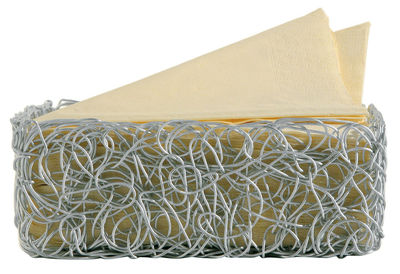 Scopri cesto nuvem alluminio 21 x 21 cm di a di alessi - Accessori bagno alessi ...