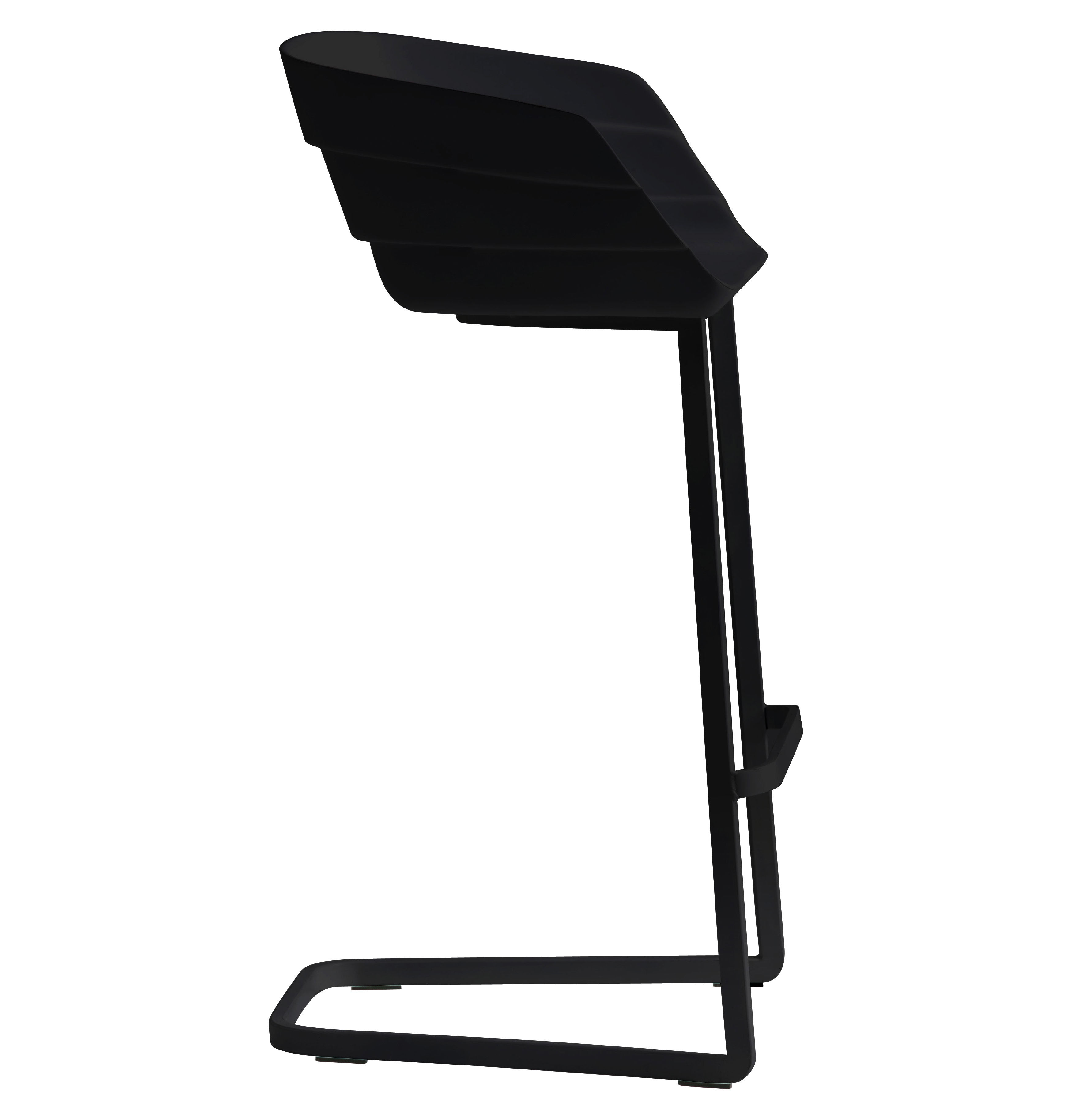 Chaise de bar rift h 65 cm coque plastique pied - Chaise bar hauteur assise 65 cm ...