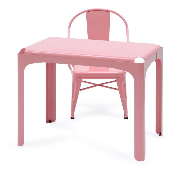 bureau enfant rhino rose tolix. Black Bedroom Furniture Sets. Home Design Ideas