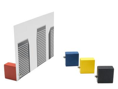 Image of Portafoto Basics - / Set 4 cubi calamitati di Pa Design - Blu,Giallo,Rosso,Nero - Legno