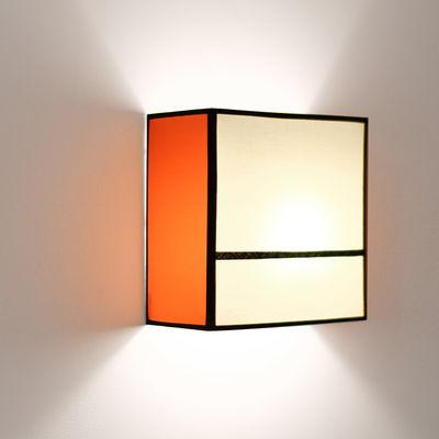 Radieuse Small Wall light - Not electrified - H 25 cm Beige & orange / Black braid by Maison ...