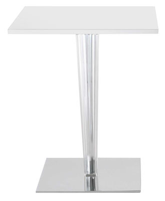 Table de jardin Top Top - Contract outdoor / 70 x 70 cm - Kartell blanc en matière plastique
