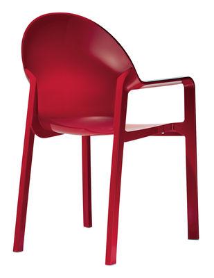 Foto Poltrona impilabile Tosca - Opaco di Magis - Rosso - Materiale plastico