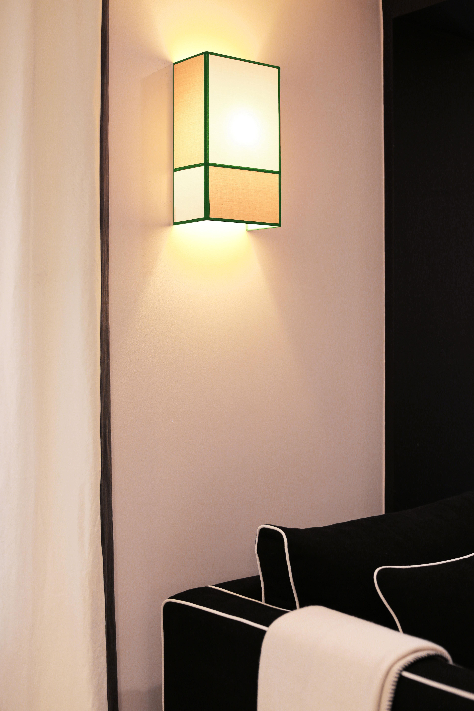 applique radieuse large non lectrifi e h 36 cm ecru gris ganses vertes maison sarah. Black Bedroom Furniture Sets. Home Design Ideas