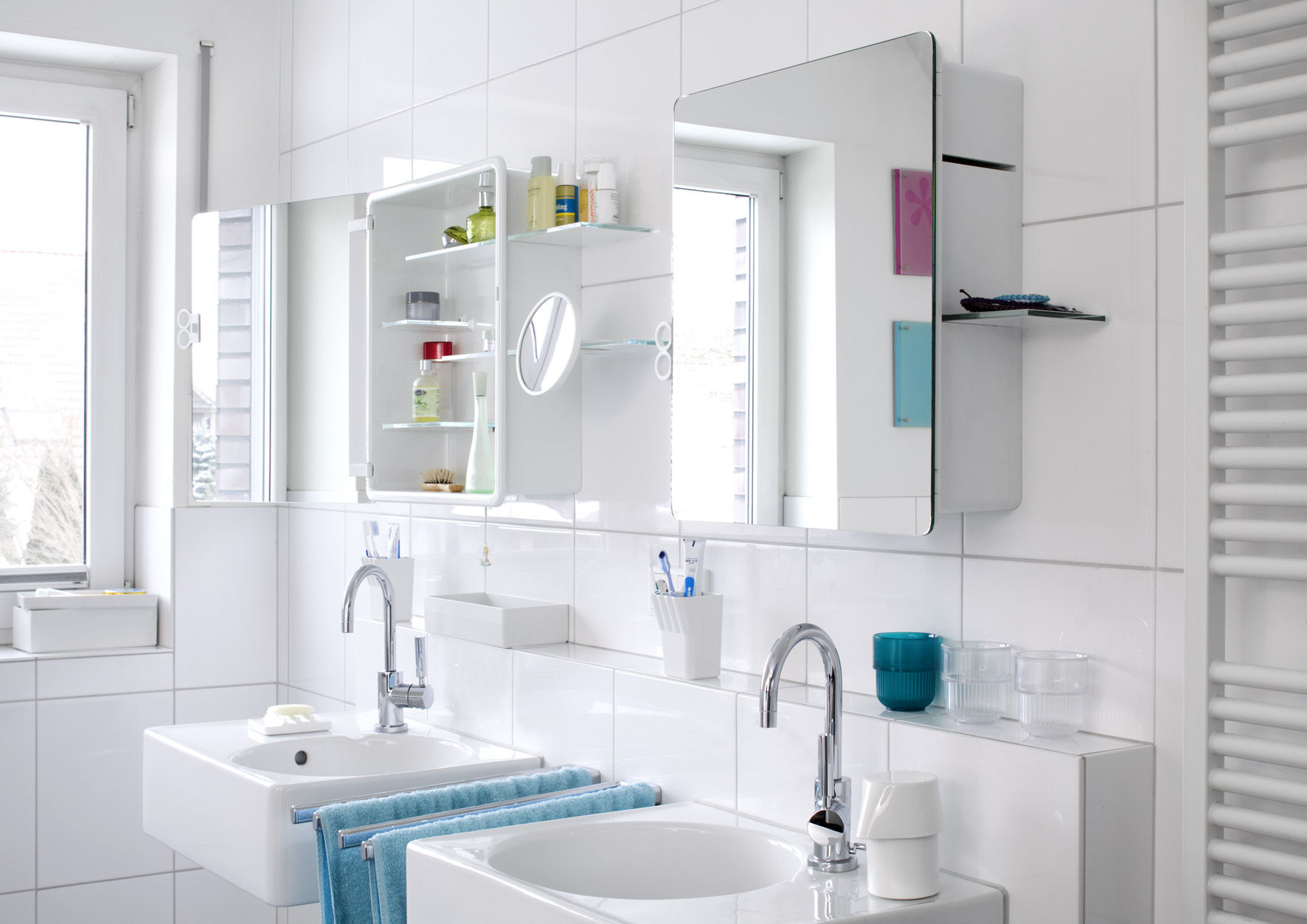 Kali Bathroom cabinet - Mirror cabinet White by Authentics | Made In ...