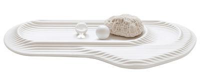 Déco - Accessoires bureau - Plumier Ceramic Feeld - Moustache - Blanc - Céramique émaillée