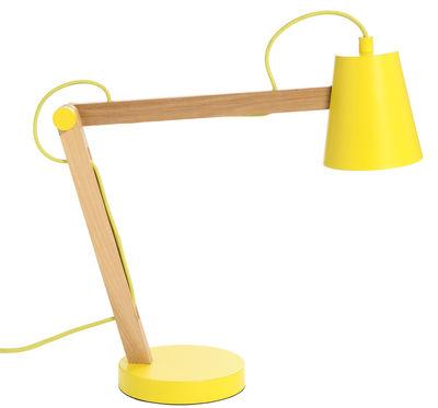lampe de table play jaune bois clair frandsen. Black Bedroom Furniture Sets. Home Design Ideas