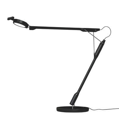 Luminaire - Lampes de table - Lampe de table Tivedo LED / Orientable - Luceplan - Noir - Inox, Polycarbonate, Thermoplastique