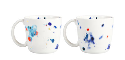 Tasse Colour Dotted / Set de 2 - Porcelaine - & klevering multicolore en céramique