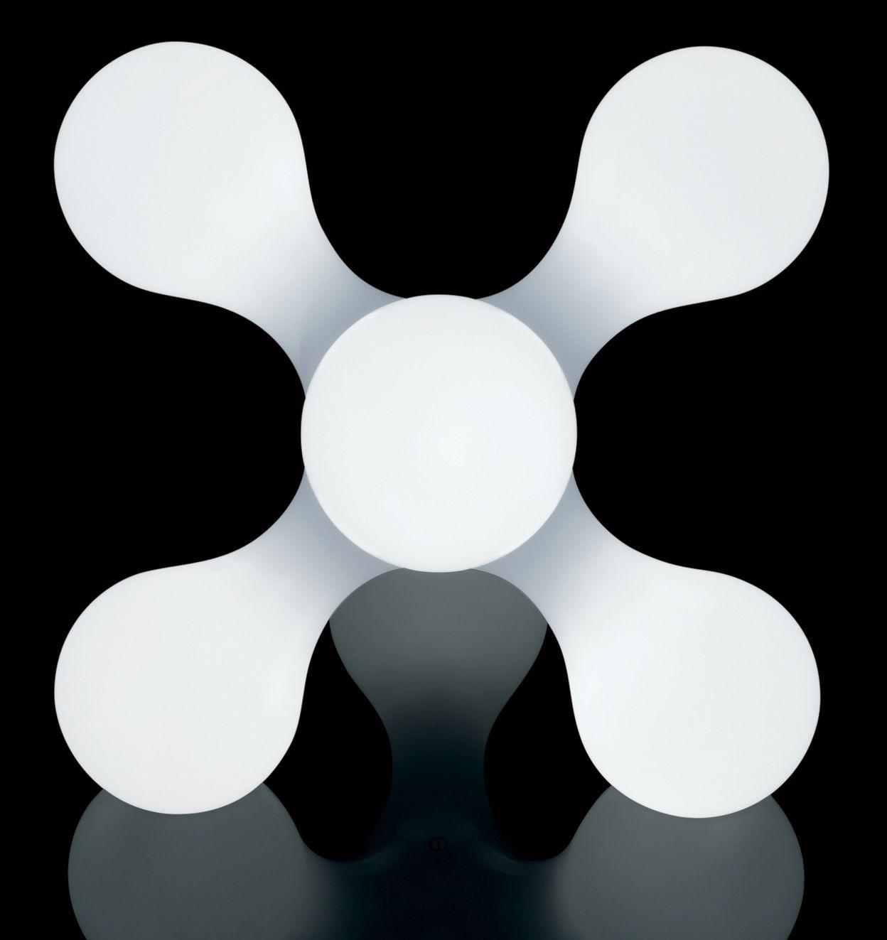 lampe de sol atomium h 52 cm blanc kundalini. Black Bedroom Furniture Sets. Home Design Ideas