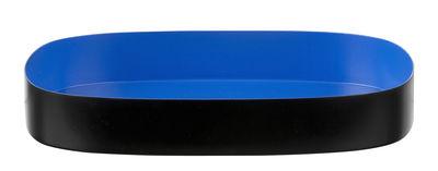 Plateau Television Medium / 21 x 18 cm - Design Letters bleu,noir en métal
