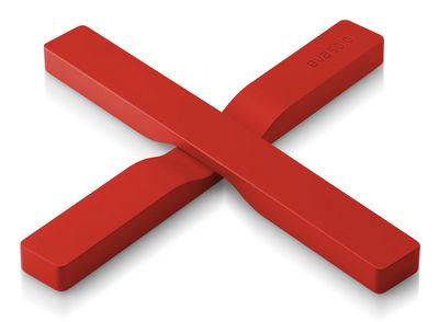 Dessous de plat magnétique - Eva Solo rouge orangé en matière plastique
