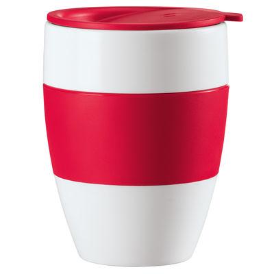 Arts de la table - Tasses et mugs - Gobelet Aroma to go isotherme avec couvercle - Koziol - Framboise - Polypropylène, Thermoplastique