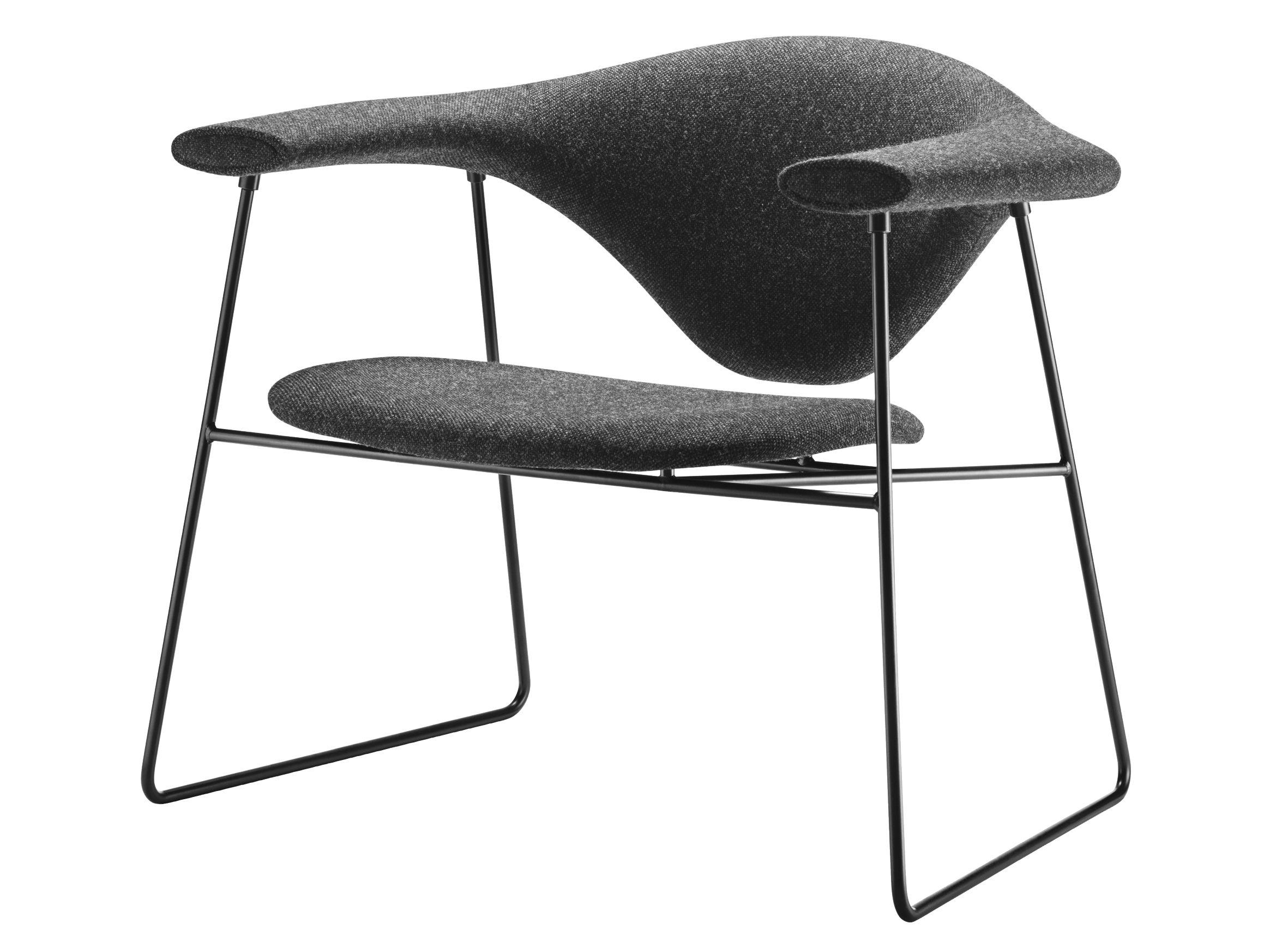 fauteuil bas masculo rembourr gris anthracite gubi made in design. Black Bedroom Furniture Sets. Home Design Ideas