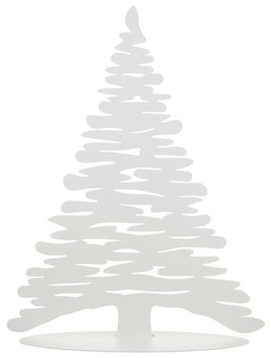 Décoration Bark Tree Sapin avec aimants colorés H 45 cm Alessi blanc en métal