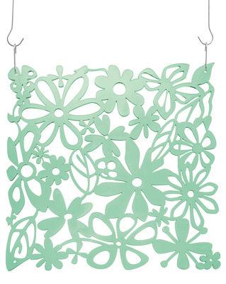 Mobilier - Paravents, séparations - Décoration Alice / Set de 4 - Crochets inclus - Koziol - Vert menthe transparent - Polycarbonate