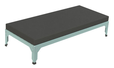Pouf / Estensione per divano Lounge Hegoa - 145 x 65 cm - Indoor /Outdoor - Matière Grise - Talpa,Blu celadon - Tessuto