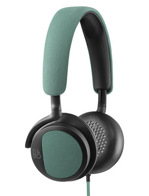 Casque audio BeoPlay H2 Tissu cuir B O PLAY by Bang Olufsen vert émeraude en cuir