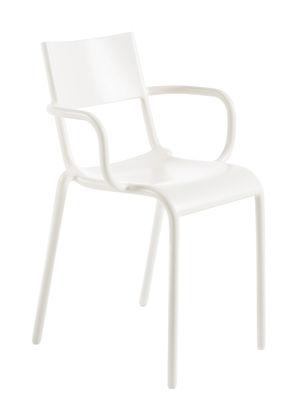 Mobilier - Chaises, fauteuils de salle à manger - Fauteuil empilable Generic A / Polypropylène - Kartell - Blanc - Polypropylène
