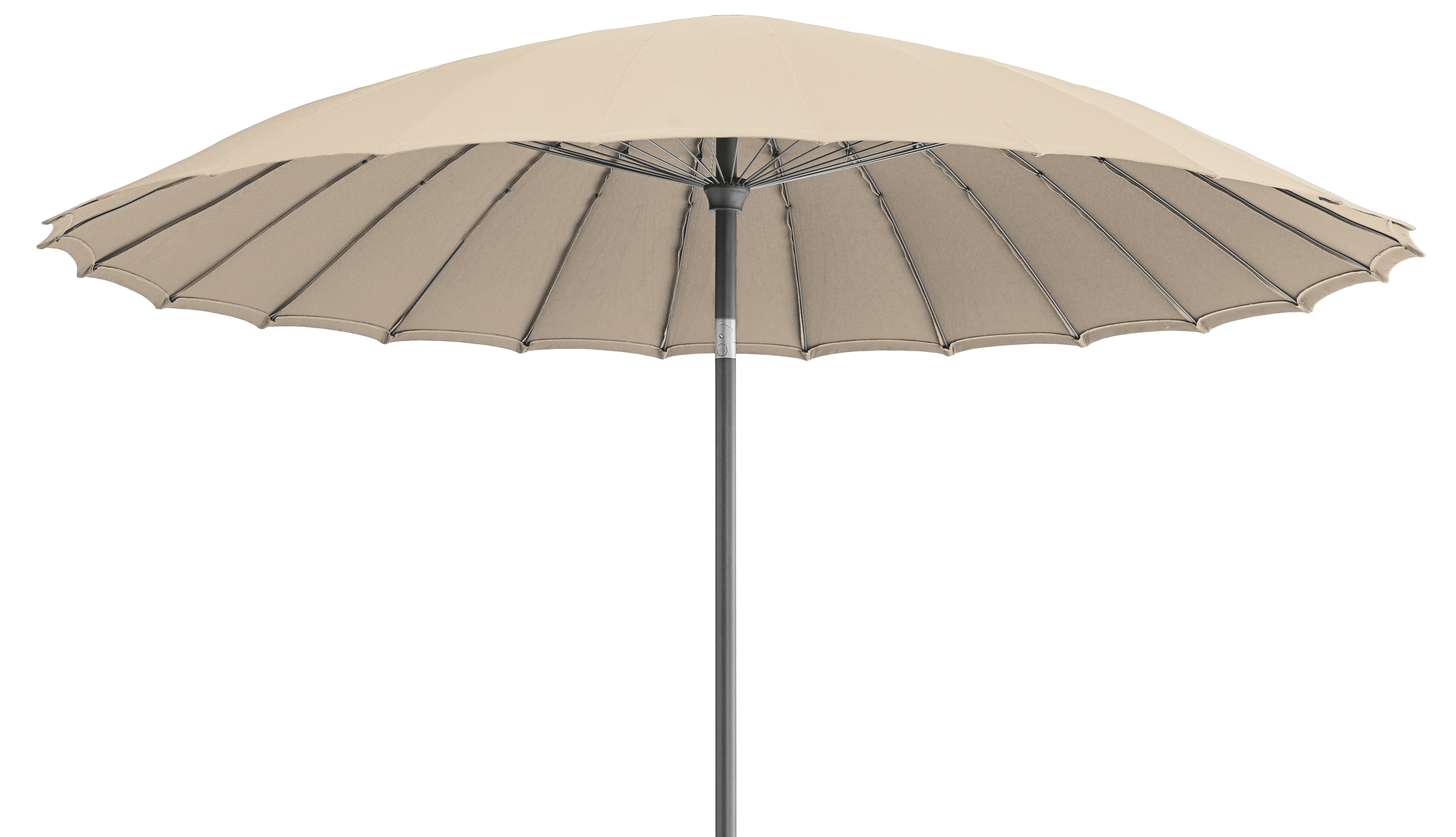 Shanghai parasol 250 cm 250 cm antique beige by vlaemynck - Vlaemynck parasol ...