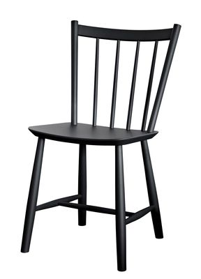 J41 Chair - / Wood Black by Hay | Made In Design UK
