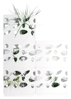 Foto Kit per fioriera - Per impilare 4 fioriere Garden Wall di Viteo - Bianco - Metallo