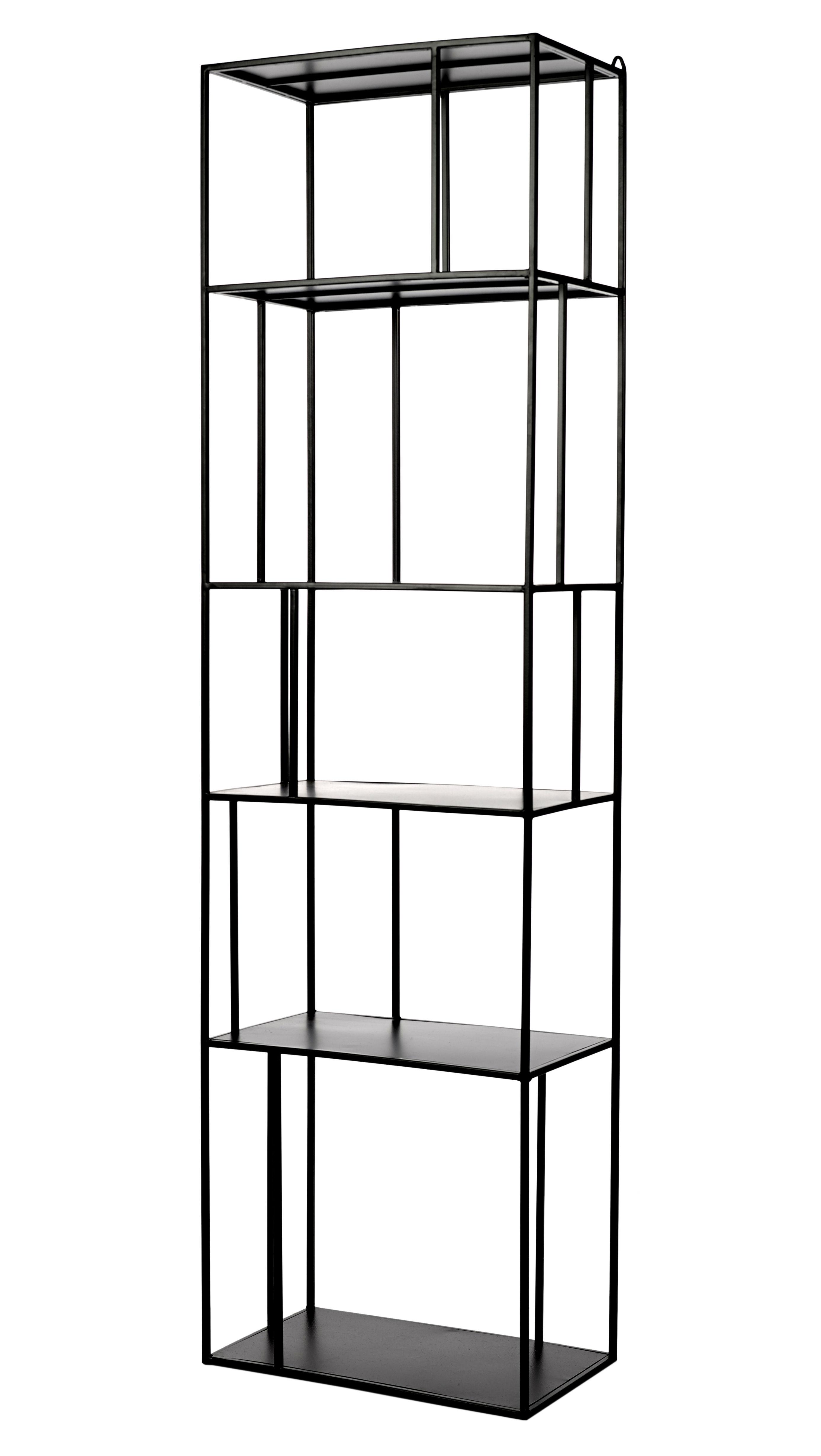 etag re metal tall single l 50 x h 179 cm l 50 cm noir pols potten. Black Bedroom Furniture Sets. Home Design Ideas