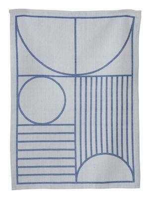 Torchon Outline - Ferm Living bleu,gris en tissu