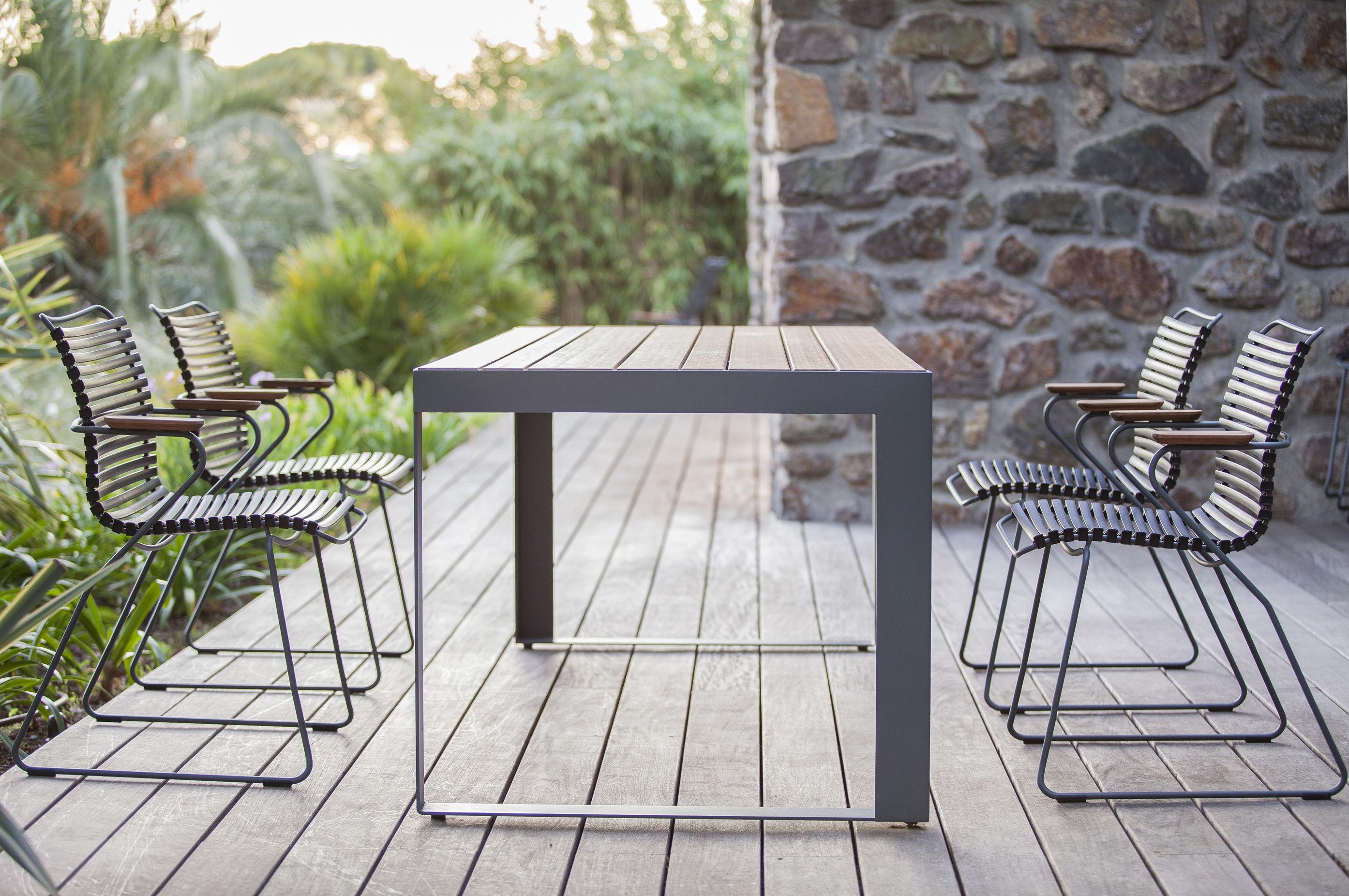 Sparewood tavolo da giardino bamb 200 x 88 cm bamb for Bambu giardino