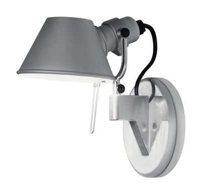 Luminaire - Appliques - Applique Tolomeo Faretto LED - H 20 cm - Artemide - LED - Aluminium - H 20 cm - Aluminium
